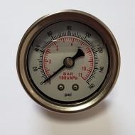 Manomètre de pression d'essence à glycérine liquide